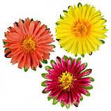 Искусственные цветы букет астры трехцветные, 52см, фото 2