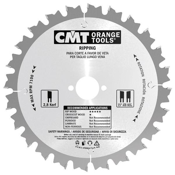 CMT 235x30x2,8x24 пиляльний диск продолный рез для ручних циркулярок
