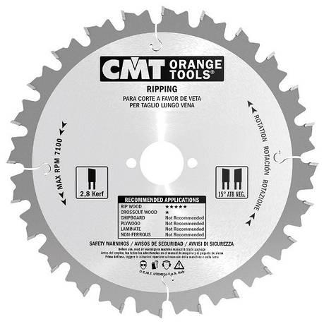 CMT 235x30x2,8x24 пиляльний диск продолный рез для ручних циркулярок, фото 2