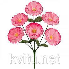 Искусственные цветы букет гвоздик братчиков, 33см