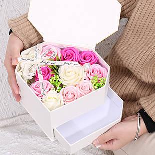 Подарочная коробка с цветами из мыла Lesko L-445 (6656-22818)