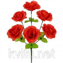 Искусственные цветы букет роз, 32см