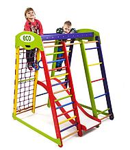 Домашній, дитячий, дерев'яна яний спортивний комплекс Koloryk Plus1