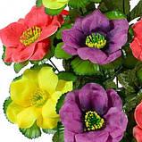Искусственные цветы букет трехцветный лотос, 44см, фото 2