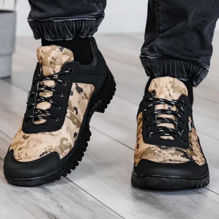 Мужские кроссовки на протекторной прошитой подошве (Кз-16зл-2)