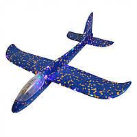 """Метальний планер """"Пенолет"""" AP2187 зі світлом, 48 см (Синій)"""