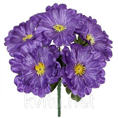 Искусственные цветы букет крупной атласной примулы, 19см