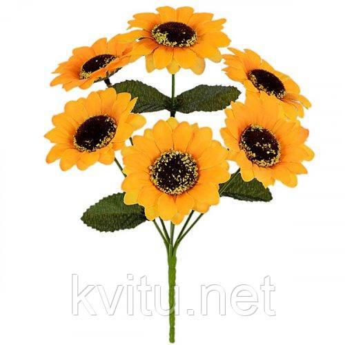 Искусственные цветы букет подсолнуха, 27см