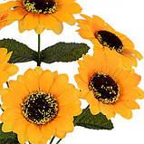 Искусственные цветы букет подсолнуха, 27см, фото 2