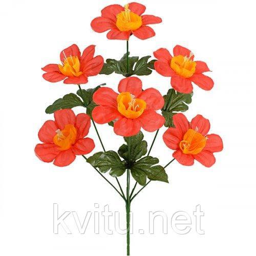 Искусственные цветы букет герани, 39см