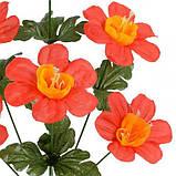 Искусственные цветы букет герани, 39см, фото 2