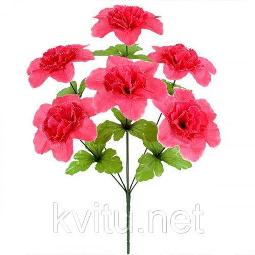 Искусственные цветы букет гвоздики пышные, 45см