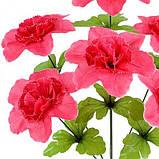Искусственные цветы букет гвоздики пышные, 45см, фото 2
