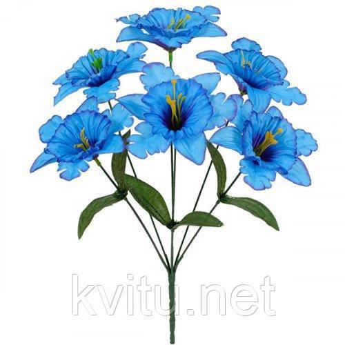 Искусственные цветы букет нарцисс резной, 35см