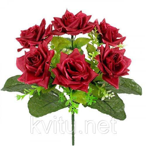 Искусственные цветы букет невесты розы с подкустником, 26см