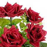 Искусственные цветы букет невесты розы с подкустником, 26см, фото 2