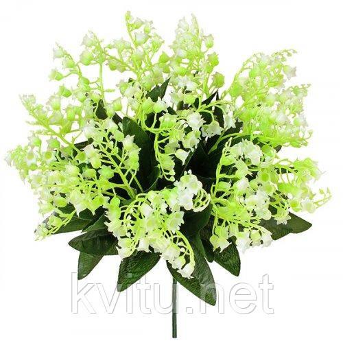 Искусственные цветы букет ландыш заливка 5 веток, 23см