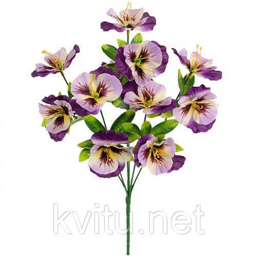 Искусственные цветы букет виола искусственная, 39см