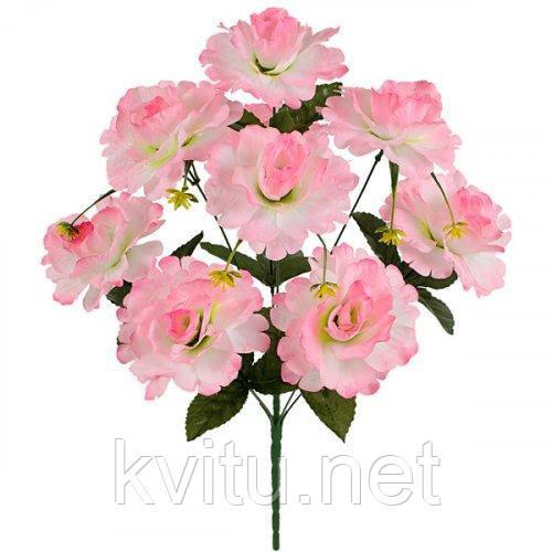 Искусственные цветы букет роза кучерявая 9-ка, 55см