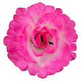 Искусственные цветы букет роза кучерявая 9-ка, 55см, фото 2