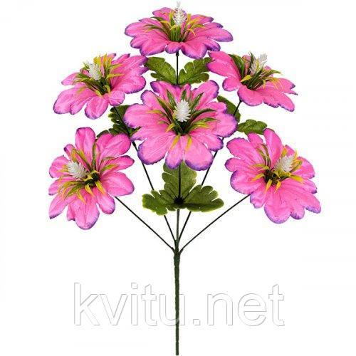 Искусственные цветы букет мальва атласная с кукурузкой, 46см