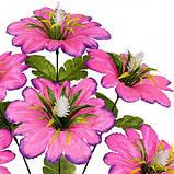 Искусственные цветы букет мальва атласная с кукурузкой, 46см, фото 2