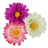Искусственные цветы букет ромашки трехцветные, 51см, фото 2