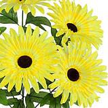 Искусственные цветы букет герберы Макси, 57см, фото 2
