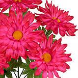 Искусственные цветы букет хризантем Корона, 56см, фото 2
