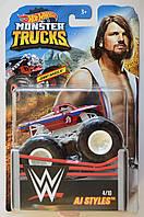 Внедорожник Hot Wheels Monster Trucks - Torque Terror - AJ Styles - 2019 WWE. Монстр трак. Mattel Оригинал