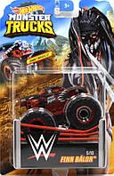 Внедорожник Hot Wheels Monster Trucks - Podium Crasher - Finn Bálor - 2019 WWE. Монстр трак. Mattel Оригинал