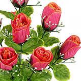 Искусственные цветы букет бутонов роз, 44см, фото 2