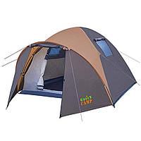 Палатка четырехместная с тамбуром Green Camp 1004