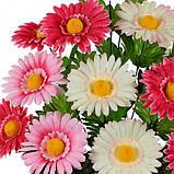 Искусственные цветы букет астры трехцветные, 50см, фото 2