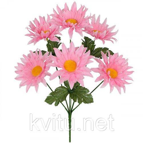 Искусственные цветы букет астры мохнатые, 33см