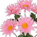 Искусственные цветы букет астры мохнатые, 33см, фото 2