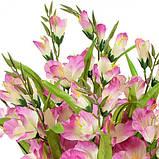 Искусственные цветы гладиолус Люкс одиночная ветка, 64см, фото 2