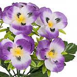 Искусственные цветы букет Анютины глазки, 29см, фото 2