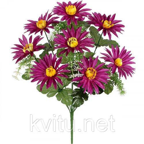 Искусственные цветы букет астры, 43см