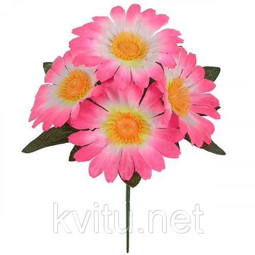 Искусственные цветы букет ромашка бордюрная  атлас, 20см