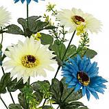 Искусственные цветы букет хризантем двухцветных, 36см, фото 2