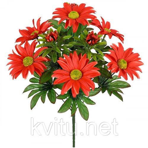 Искусственные цветы букет астры декоративные, 38см