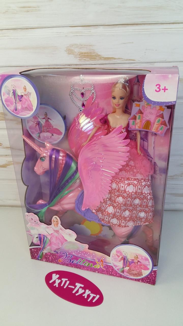 Лялька дитяча, конячка єдиноріг, чарівна паличка, 68178