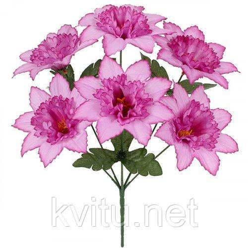Искусственные цветы букет нарцисс острый , 35см