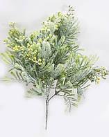 """""""Магония 33см """"куст зеленый с желтыми мелкими ягодами,с белой присыпкой, фото 1"""