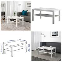 Журнальный столик IKEA LACK 90x55 см белый прямоугольный кофейный стол ИКЕА ЛАКК