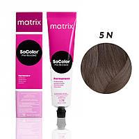 Матрікс Соколор Пре-Бондед, стійка крем-фарба для волосся, відтінок 5N, 90 мл