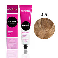 Матрікс Соколор Пре-Бондед, стійка крем-фарба для волосся, відтінок 8N, 90 мл