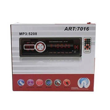 Автомагнитола Pioneer 5208 ISO - MP3 Player, FM, USB, microSD, AUX, пульт