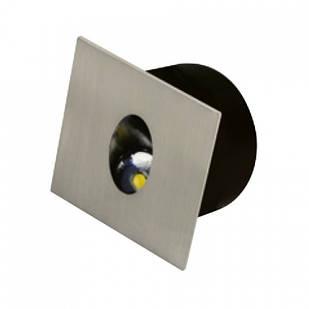 Світлодіодний світильник сходовий ZUMRUT 3W хром